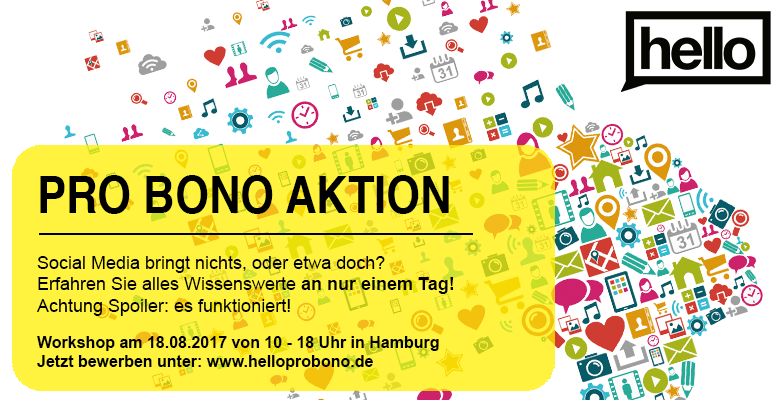 Social Media ist Thema eines probono-Workshops in Hamburg